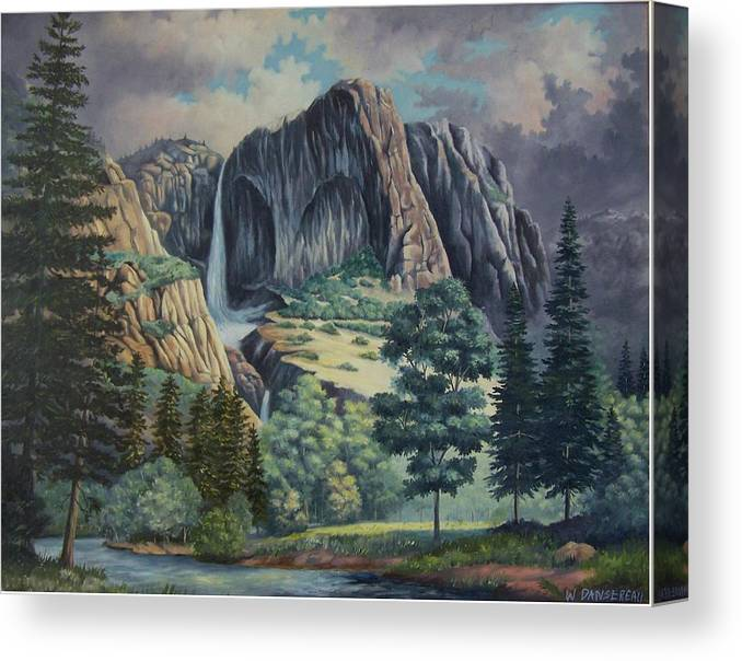 Landscape Canvas Print featuring the painting Natures Wonder by Wanda Dansereau