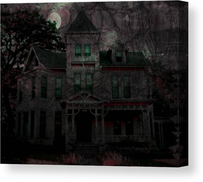 Night Canvas Print featuring the digital art Night by Mimulux patricia No