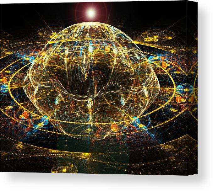 Fractal Canvas Print featuring the digital art Night Observation. by Tautvydas Davainis