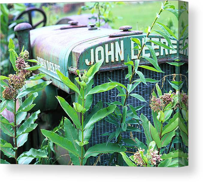 Old Canvas Print featuring the photograph Old John Deere by Robert Ponzoni
