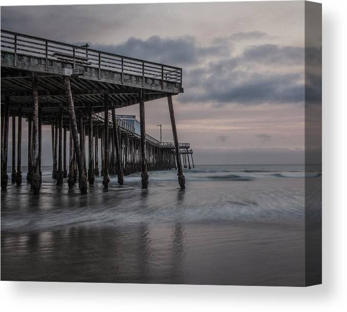 Pier Canvas Print featuring the photograph Pismo Beach Pier by Freddie B
