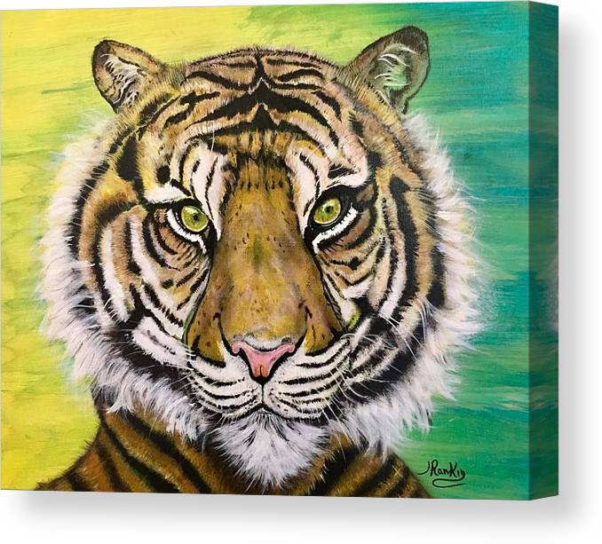 Big Tiger Canvas Print featuring the painting Prince Of The Jungle by John Rankin