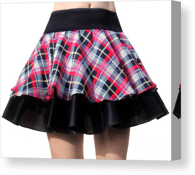 Ameynra Canvas Print featuring the photograph Punk Style Mini Skirt - Ameynra Fashion by Sofia Metal Queen