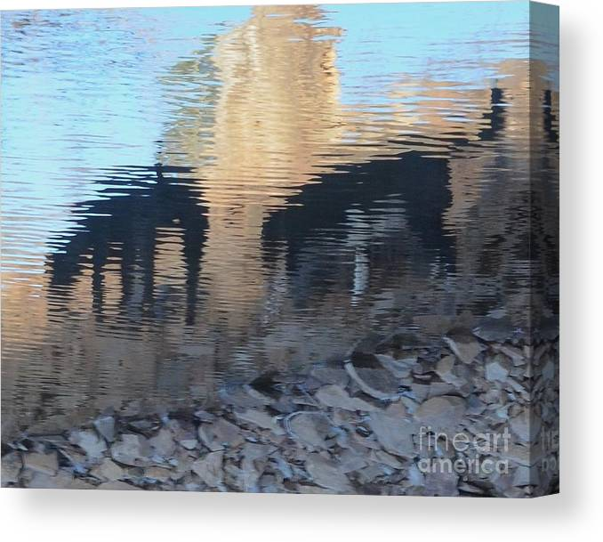 Impressionism Canvas Print featuring the photograph Reflection Of Dogs by Robert Buderman
