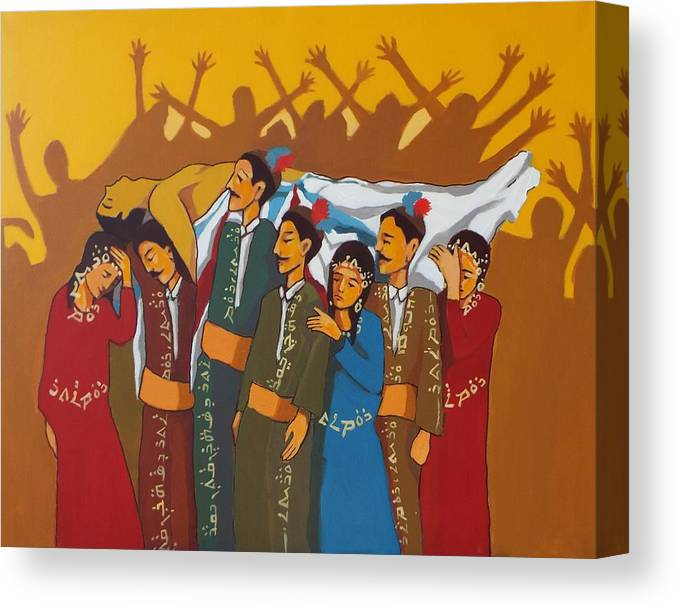 #assyrian Genocide # Semelle # Assyrian Art # Syfo # Genocide # Iraqi Christian # Fall Of Ninveh #  Canvas Print featuring the painting Rise Aturaya by Paul Batou