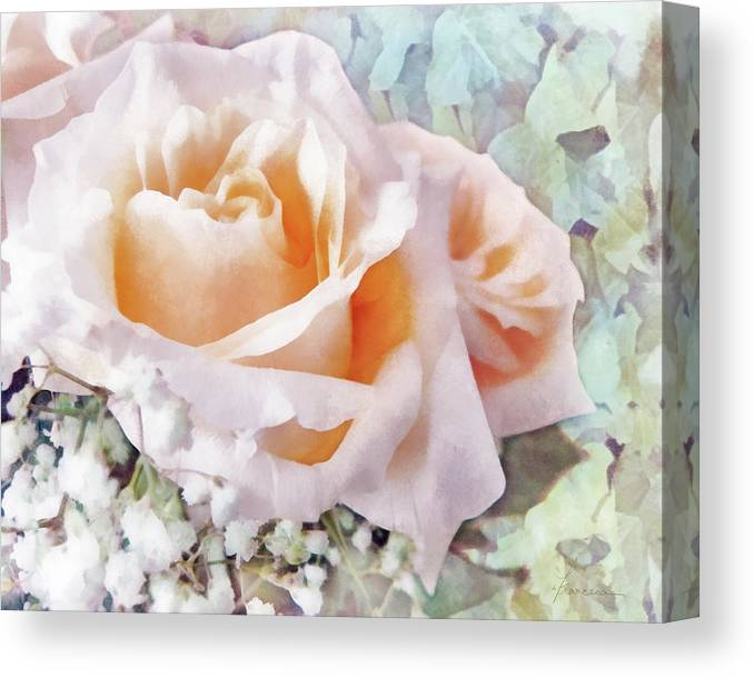 Rose Canvas Print featuring the digital art Rose Ivy by Francesa Miller