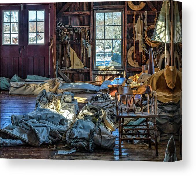 2017 Canvas Print featuring the photograph Sail Loft by Mindy Randall
