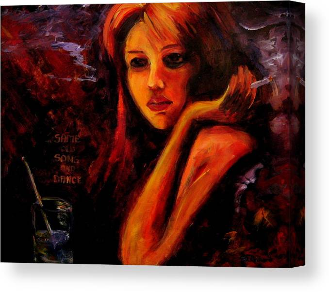 Woman Canvas Print featuring the painting Same Old Song And Dance by Jason Reinhardt