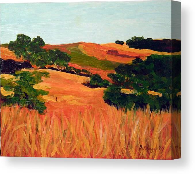 Landscape Canvas Print featuring the painting Sedgewick Reserve by Deborah Hildinger