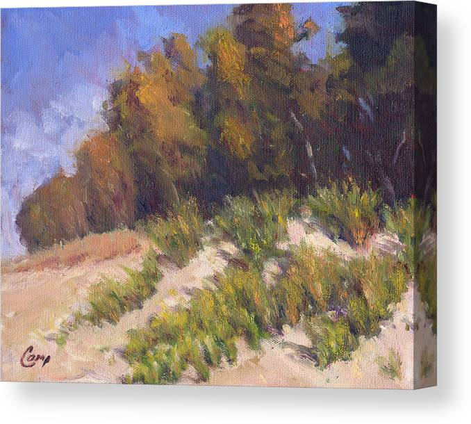 September Canvas Print featuring the painting September Song by Michael Camp