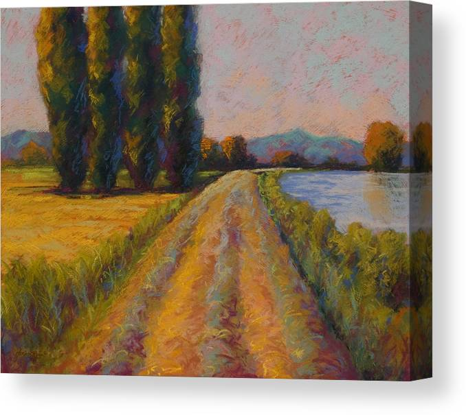 Pastel Canvas Print featuring the painting The Levee by Marion Rose