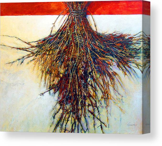 Tree Canvas Print featuring the painting Thorn Zia by Dale Witherow