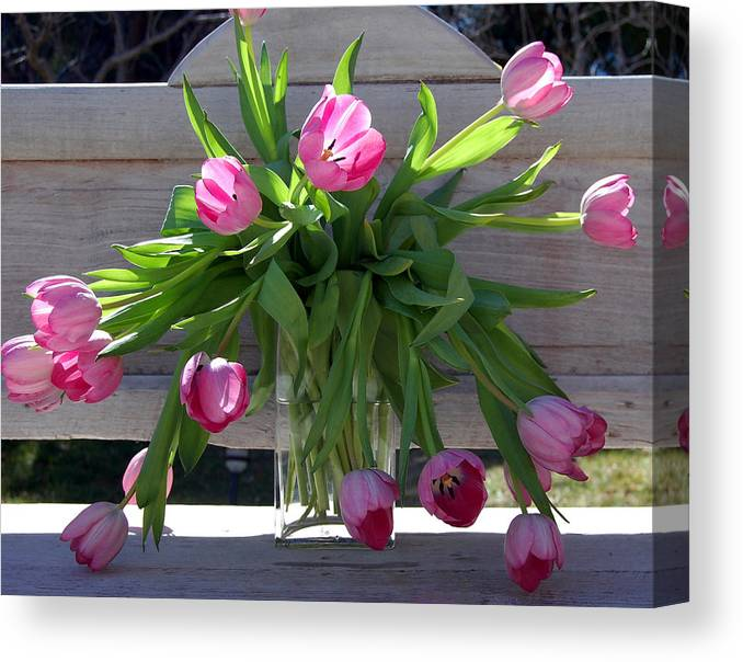 Flowers Canvas Print featuring the photograph Tulip Bouquet by Heather S Huston