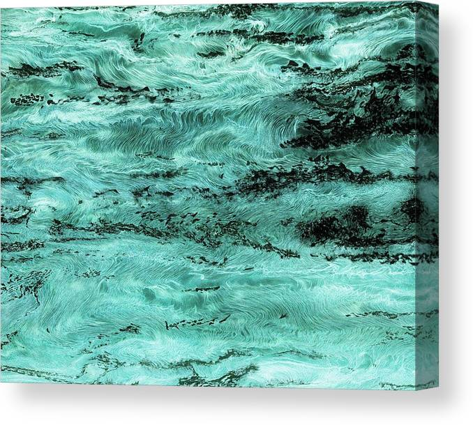 Paul Tokarski Canvas Print featuring the photograph Turquoise Water by Paul Tokarski