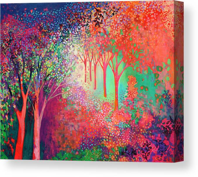 Tree Canvas Print featuring the painting Walking Toward The Light by Jennifer Lommers