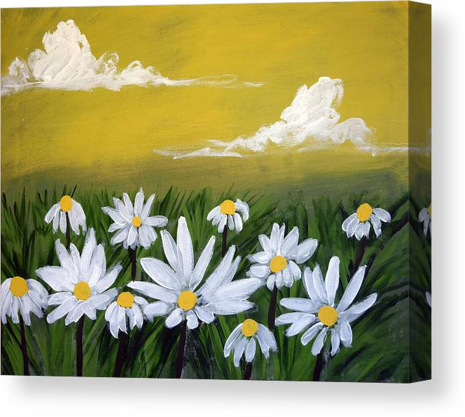 Watercolours Paintings Original Flower Painting Wall Art Acrylic Abstract Canvas Wildflower Canvas Print