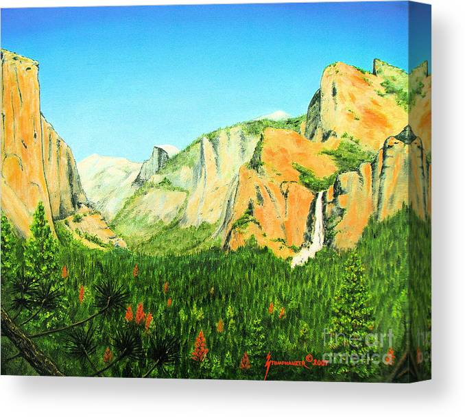 Yosemite National Park Canvas Print featuring the painting Yosemite National Park by Jerome Stumphauzer