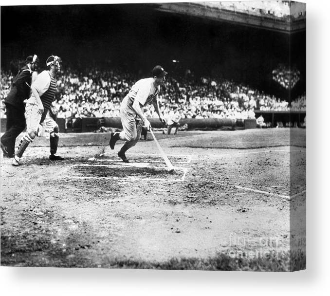 American League Baseball Canvas Print featuring the photograph National Baseball Hall Of Fame Library 205 by National Baseball Hall Of Fame Library