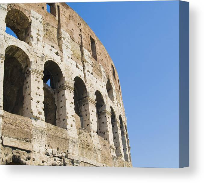 Arch Canvas Print featuring the photograph Colosseum Detail by John Harper