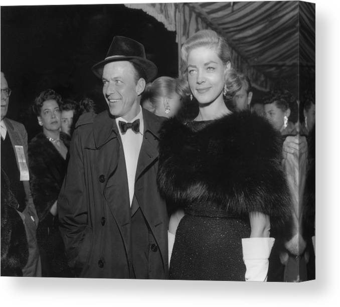 Event Canvas Print featuring the photograph Sinatra & Bacall by American Stock Archive