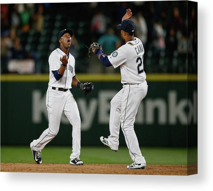 People Canvas Print featuring the photograph Austin Jackson by Otto Greule Jr