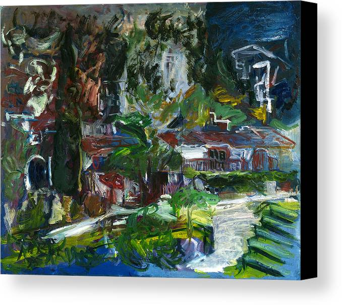 Landscape Canvas Print featuring the painting Bellapais by Joan De Bot