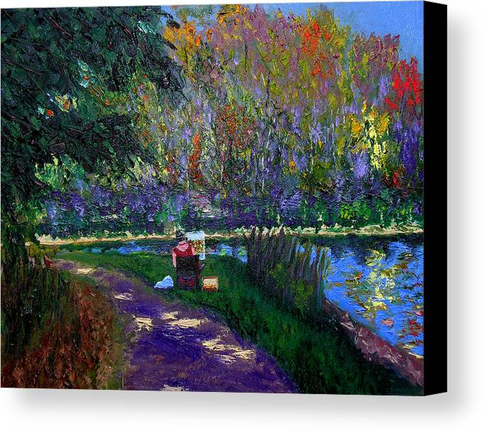 Original Oil On Canvas Canvas Print featuring the painting Ecp 10-3 by Stan Hamilton
