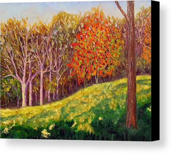Landscape Canvas Print featuring the painting Mooresville 10 11 by Stan Hamilton