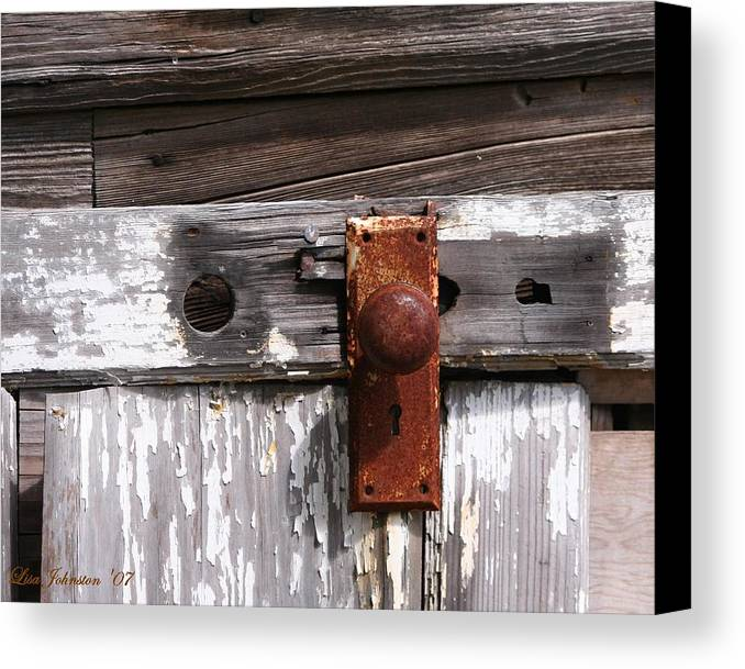 Door Canvas Print featuring the photograph Rusty Entry by Lisa Johnston