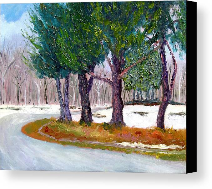 Landscape Canvas Print featuring the painting Sewp Early Spring by Stan Hamilton