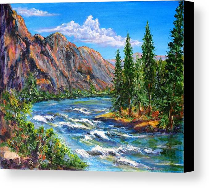 Landscape Canvas Print featuring the painting Snake River by Thomas Restifo