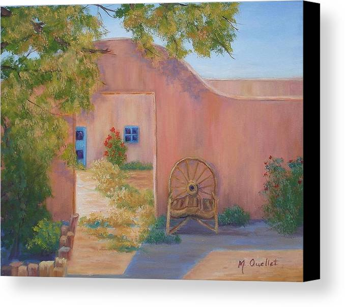 Landscape Canvas Print featuring the painting Southwest by Maxine Ouellet