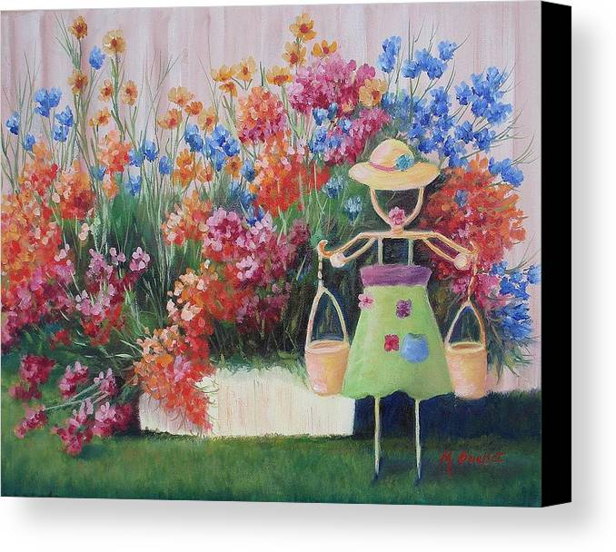 Landscape Canvas Print featuring the painting Summer Bounty by Maxine Ouellet