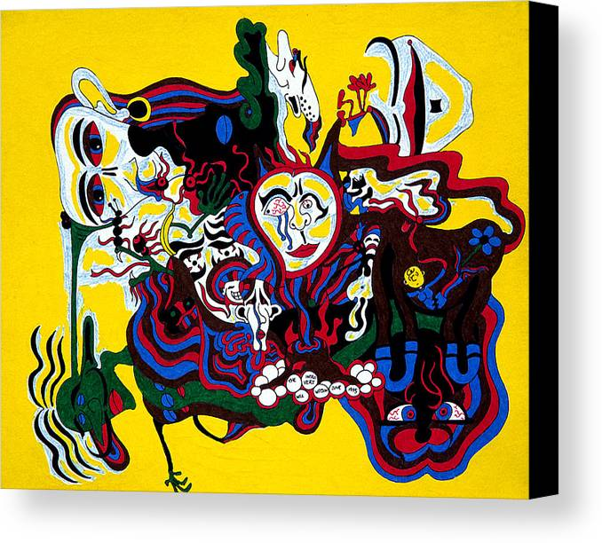 Abstract Canvas Print featuring the print The Introvert by William Watson