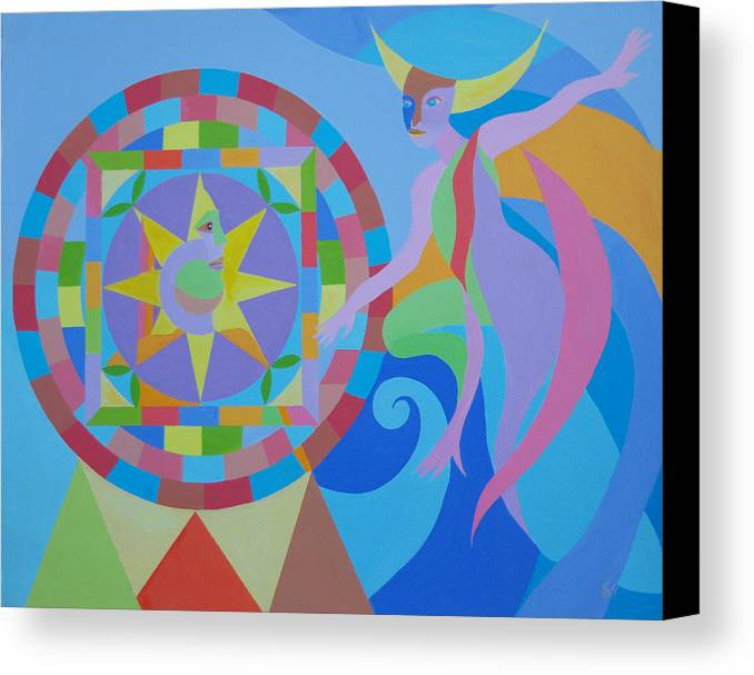 Fantasy Canvas Print featuring the painting Well Of Fate by Seema Gill