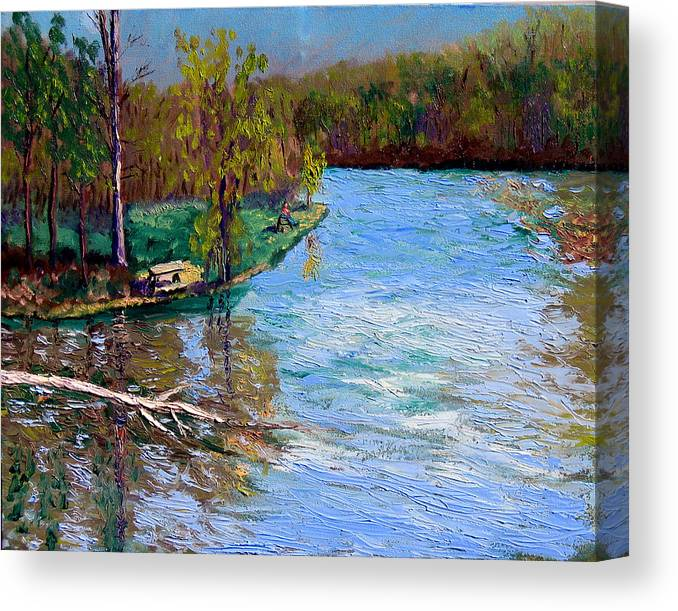 Original Oil On Canvas Canvas Print featuring the painting Bcsp 4-26 by Stan Hamilton