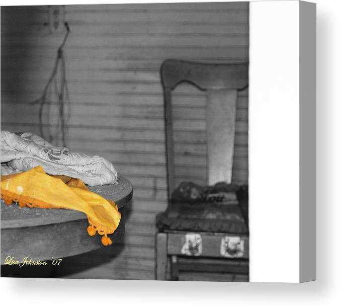 Blanket Canvas Print featuring the photograph Forgotten Blanket by Lisa Johnston