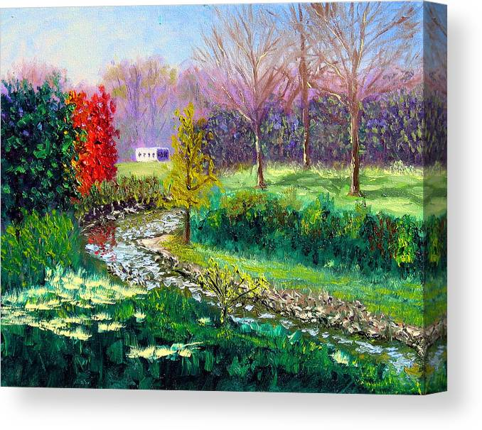 Original Oil On Canvas Canvas Print featuring the painting Gp 10-18 by Stan Hamilton
