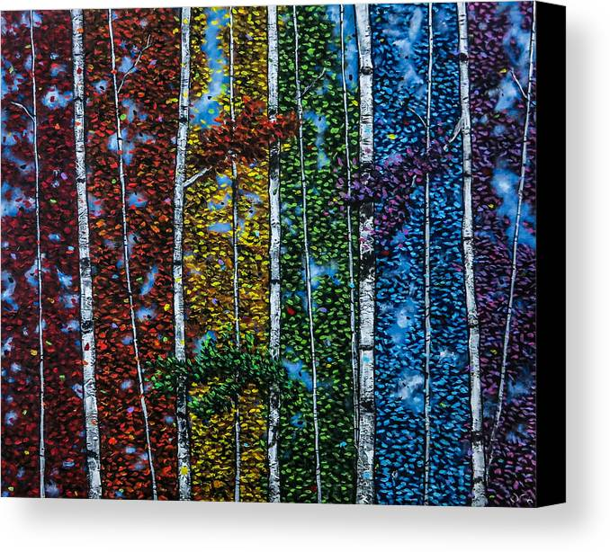 Abstract Canvas Print featuring the painting Leela's Song by Joel Tesch