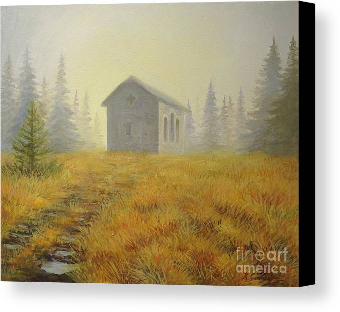 Art Canvas Print featuring the painting A Touch Of Faith by Kiril Stanchev