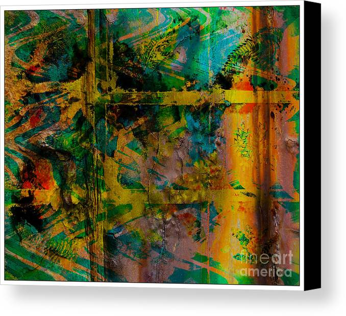 Front Canvas Print featuring the digital art Abstract - Emotion - Facade by Barbara Griffin
