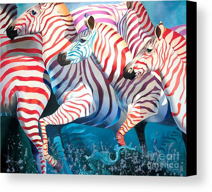 Magic Africa Canvas Print featuring the painting Best Wishes by Tatyana Binovska