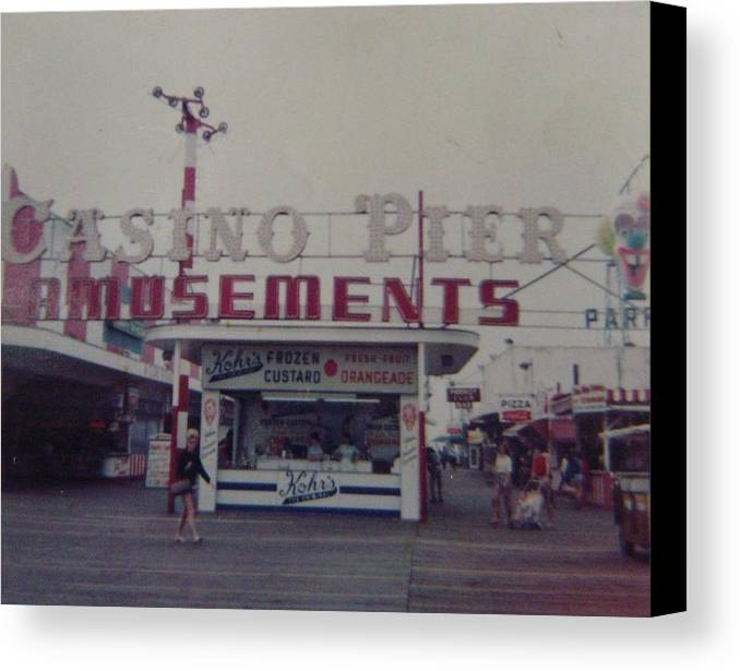 Seaside Heights Canvas Print featuring the photograph Casino Pier Amusements Seaside Heights Nj by Joann Renner