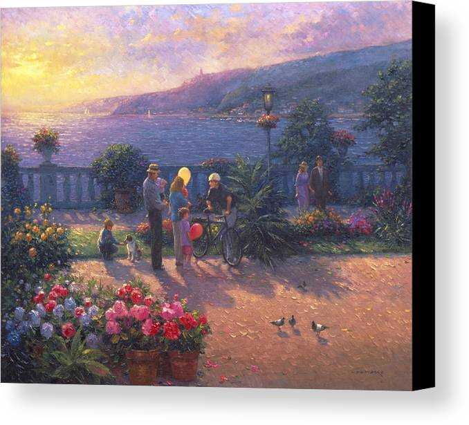 Woman Canvas Print featuring the painting Family Friendly by Ghambaro