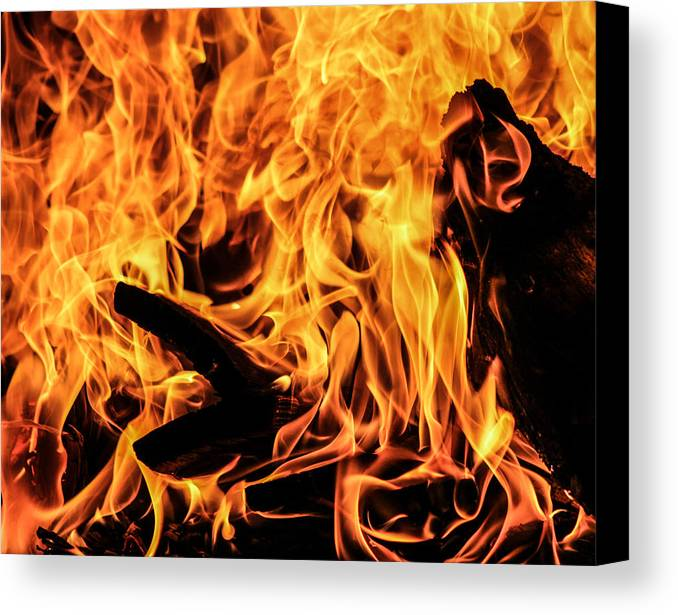 Fire Canvas Print featuring the photograph Heat by Sherie Sadlier