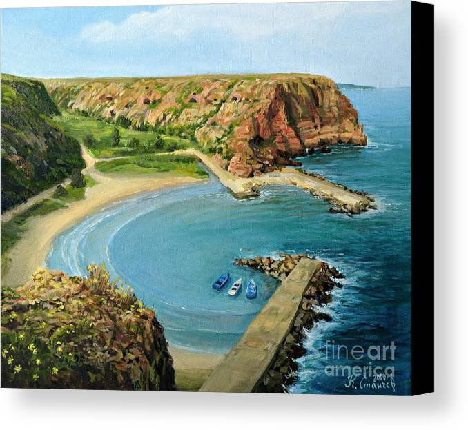 Art Canvas Print featuring the painting In The Bay by Kiril Stanchev