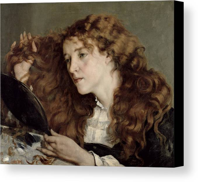 Josephine Canvas Print featuring the painting Jo The Beautiful Irish Girl by Gustave Courbet