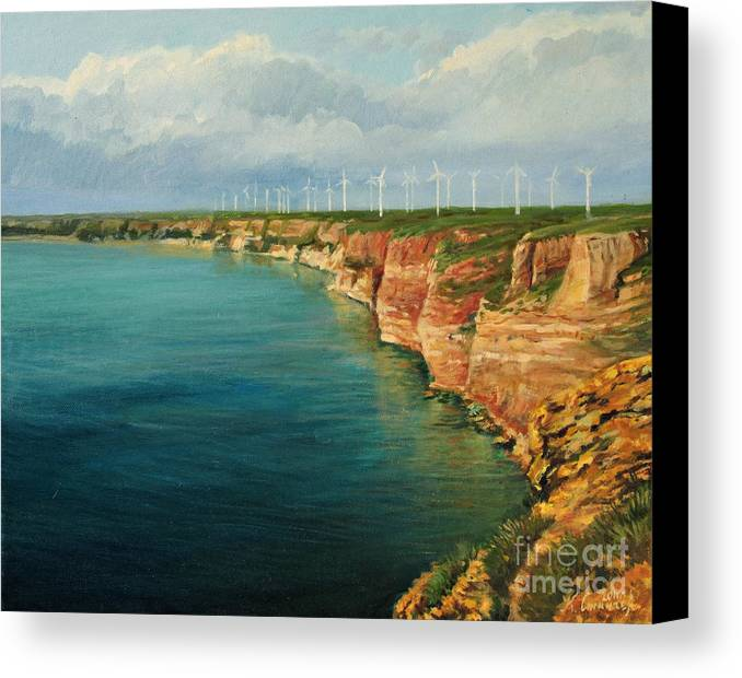 Art Canvas Print featuring the painting Land Of The Winds by Kiril Stanchev