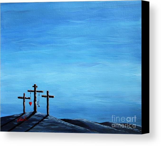 God Canvas Print featuring the painting Love And Grace By Shawna Erback by Shawna Erback