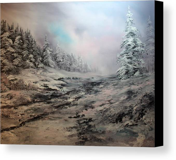 Cannock Chase Canvas Print featuring the painting My Idea Of Heaven by Jean Walker